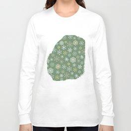 christmas snowy green Long Sleeve T-shirt