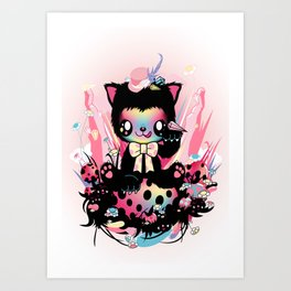 Lucky kitty Art Print