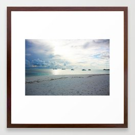 Meeru Island, The Maldives Framed Art Print