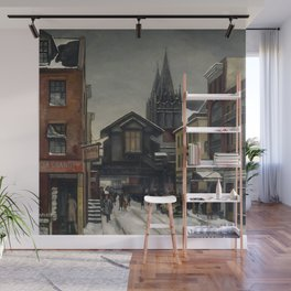 American Masterpiece 'Christopher Street - Greenwich Village' by Beulah Bettersworth Wall Mural