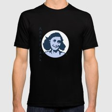 Anne Frank LARGE Mens Fitted Tee Black