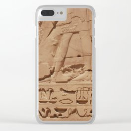 Ancient Egyptian hieroglyphics, Luxor, Egypt Clear iPhone Case