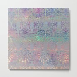 212 12 Abstract Seashell Pastel Metal Print