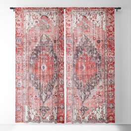 N62 - Vintage Farmhouse Rustic Traditional Moroccan Style Artwork Blackout Curtain