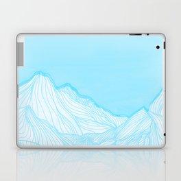 Lines in the mountains - Aqua Laptop & iPad Skin