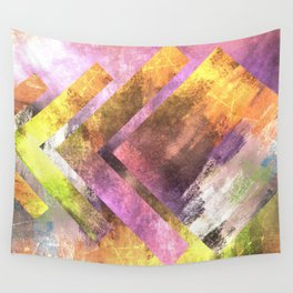 Speeding Pastels | Minimalist | Abstract | Modern | Shapes | Geometrix Wall Tapestry