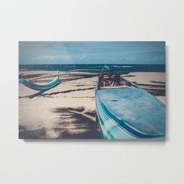 Hawaiian Outrigger Canoe Kuau Paia Maui Hawaii Metal Print