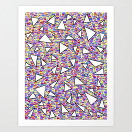 triangles (quatre) Art Print