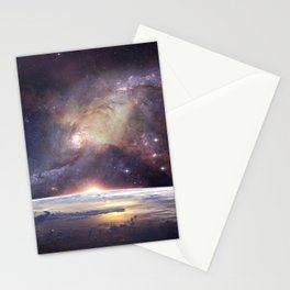 Milky Way Earth Stationery Cards