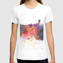 Johannesburg skyline in watercolor background T-shirt