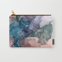 Heavenly Pastels 2: Original Abstract Ink Painting Carry-All Pouch