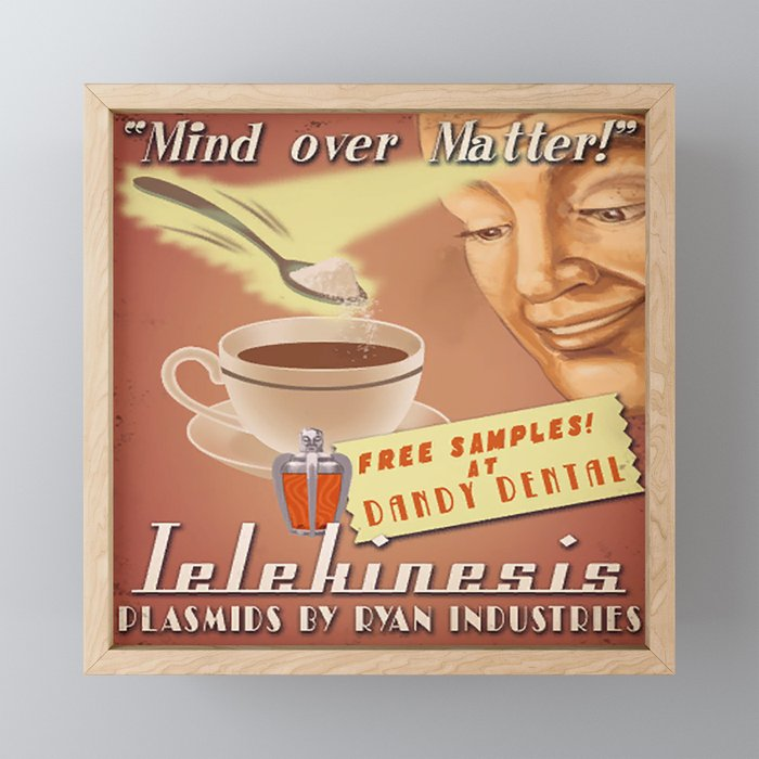 Bioshock ADS Poster - Telekinesis Plasmid Framed Mini Art Print