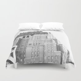New Yorker Sign - NYC Black and White Duvet Cover