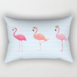 Fancy Flamingos Rectangular Pillow