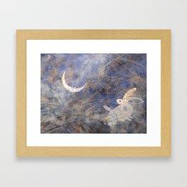 Tsuki-mi Framed Art Print
