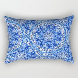 doily watercolor vector gzhel pattern Rectangular Pillow