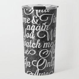 Rise Above (White) Travel Mug