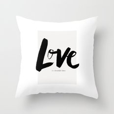 Love is a Beautiful Chaos Throw Pillow