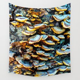 Tree Fungi Pattern Wall Tapestry