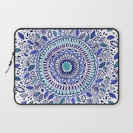 Indigo Flowered Mandala Laptop Sleeve