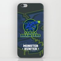 monster hunter iPhone & iPod Skins featuring Monster Hunter All Stars - The Tanzia Brawlers by Bleached ink