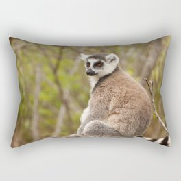 Ring Tailed Lemur Madagascar Rectangular Pillow
