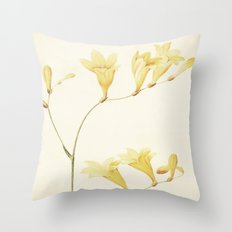 IV. Vintage Flowers Botanical Print by Pierre-Joseph Redouté - Sisyrinchium Collinum Throw Pillow