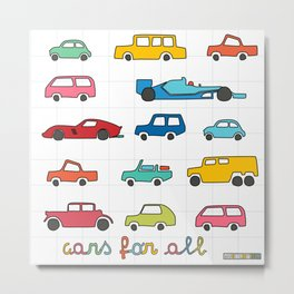Cars for all Metal Print