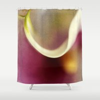 hercules Shower Curtains featuring Calla Lily AbstractIII by ThePhotoGuyDarren