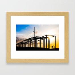 Through the dawn Framed Art Print