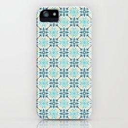 Original tile design inspired on traditional Portuguese 'azulejo' iPhone Case