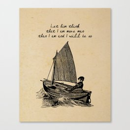 Ernest Hemingway - The Old Man and the Sea Canvas Print