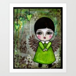 My Little Creepy Girl Angel 2 Published in Somerset Studio Gallery Art Print