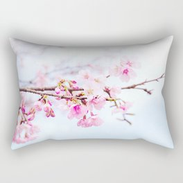 Japanese cherry-blossom tree, 'Oh-kanzakura' Rectangular Pillow