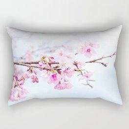 Japanese cherry-blossom tree, 'Oh-kanzakura' Rectangular Pillow