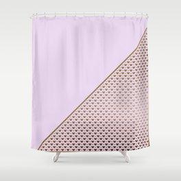 Heartless 2 - Lavender + Brass Shower Curtain