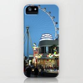 High Roller Observation Wheel in Las Vegas iPhone Case