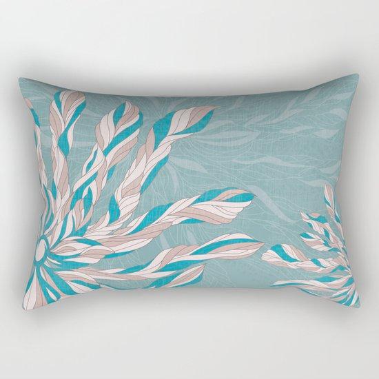 Flower Power Teal/Pink Rectangular Pillow