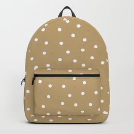 Happy New year and Merry Christmas wrapping paper gold background with dots pattern Backpack