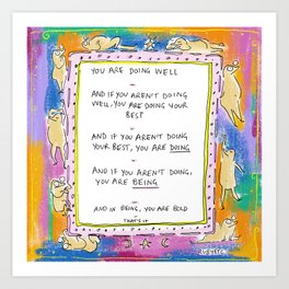 Being Bold Art Print