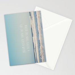 dream higher than the sky & deeper than the ocean ... Stationery Cards