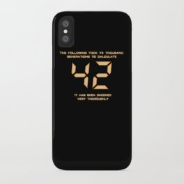 42: The Answer iPhone Case