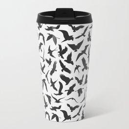 illustration of seamless pattern of flying birds Travel Mug