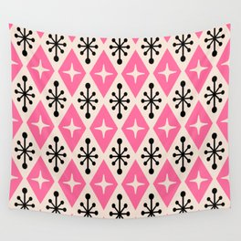 Mid Century Modern Atomic Triangle Pattern 111 Wall Tapestry