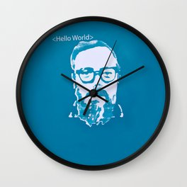 Hello World - This is a portrait of Dennis Ritchie  Wall Clock