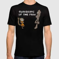 Guardians of the Park MEDIUM Mens Fitted Tee Black