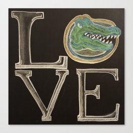 gator love chalk Canvas Print