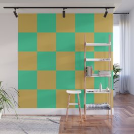 retro chess pattern Madremonte Wall Mural