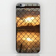 Fenced Sunrise iPhone & iPod Skin