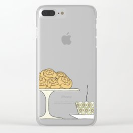 have a fika with me Clear iPhone Case